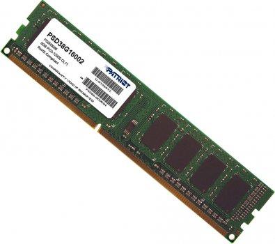 Оперативна пам'ять Patriot DDR3-1600 8192MB PC3-12800 Signature Line (PSD38G16002)