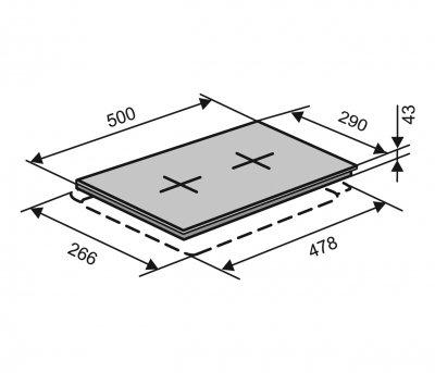 Варочная поверхность электрическая Domino VENTOLUX HE302 (INOX) 2