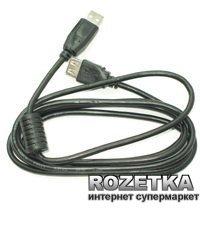 Кабель-подовжувач Maxxtro USB 2.0M - USB 2.0F 1м Ferrit (UF-AMAF-1M)