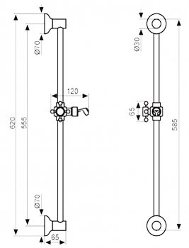 Душевая штанга EMMEVI DECO CO2541BR