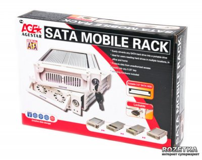 """Внутренний карман Agestar для HDD 3.5"""" SATAII (SR1A (K)-1F (Black))"""