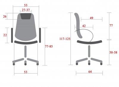 Кресло Rondi Рич Хром Коричневое (1410197803)