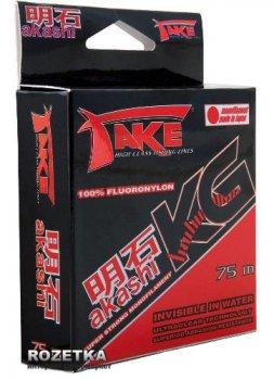 Леска Lineaeffe Take Akashi Kilo Fluoronylon 75m 0.16mm 5.0kg (3044016)