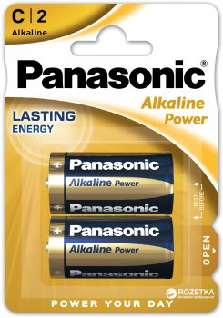 Батарейки Panasonic Alkaline Power щелочные C (LR14) блистер, 2 шт (LR14REB/2BP)