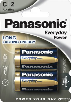 Батарейки Panasonic Everyday Power щелочные C (LR14) блистер, 2 шт (LR14REE/2BR)