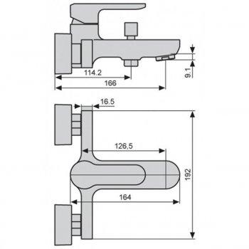 Смеситель для ванны EMMEVI NEFER BIO77001