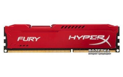 Оперативна пам'ять HyperX DDR3-1866 8192MB PC3-14900 FURY Red (HX318C10FR/8)
