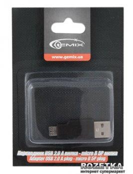 Перехідник Gemix USB 2.0 AM / microUSB 5P BM 0.1 м (GC 1642)