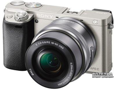 Фотоапарат Sony Alpha 6000 Kit 16-50mm Silver (ILCE6000LS.CEC)