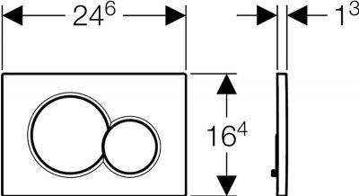 Панель смыва GEBERIT Sigma 01 хром 115.770.KA.5