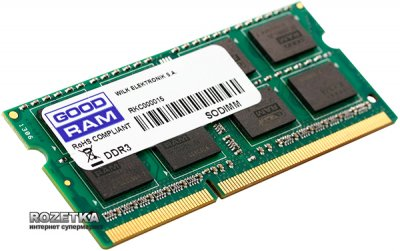 Оперативна пам'ять Goodram SODIMM DDR3-1600 8192MB PC3-12800 (GR1600S3V64L11/8G)