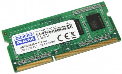 Оперативна пам'ять Goodram SODIMM DDR3-1600 4096MB PC3-12800 (GR1600S364L11S/4G)