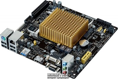 Материнська плата Asus J1900I-C (Intel Celeron J1900, SoC, PCI-E x1)