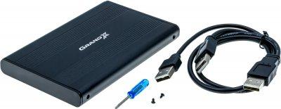 """Внешний карман Grand-X для HDD 2.5"""" USB 2.0 (HDE21)"""