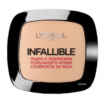 Компактная пудра для лица L'Oreal Infallible стойкость 24 ч 245 Теплая песочная (3600522536345)