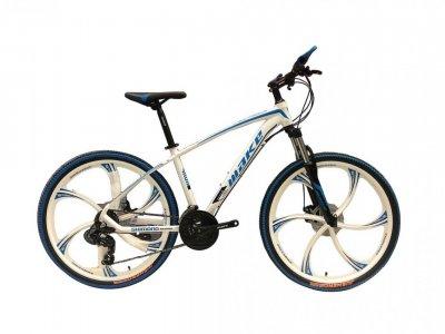 """Велосипед Make bike MTB2 26"""" литі диски 26"""", біло-синій"""