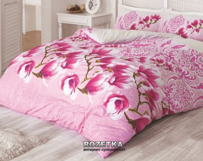 Комплект постельного белья Gokay Ранфорс Manolya 200x220 Розовый (01007932)