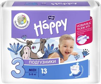 Підгузники дитячі Bella Baby Happy Midi 5-9 кг 13 шт (5900516600365)
