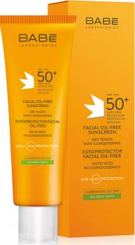 Солнцезащитный крем для лица BABE Laboratorios для жирной кожи SPF 50 50 мл (8437014389326)