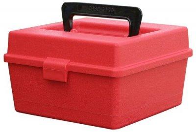 Коробка MTM R-100-MAG на 100 патронов кал. 300 Win Mag; 300 WSM; 338 Win Mag; 444 Marlin; 9,3x62. Цвет – красный (1773.04.68)
