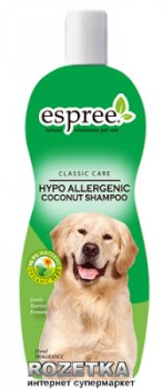 Шампунь Espree Hypo-Allergenic Coconut Shampoo гипоалергенний очищення, відновлення, зволоження вовни 355 мл (e00020)