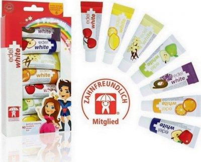 Детская зубная паста Edel White 7 фруктов 65.8 мл (7640131975308)