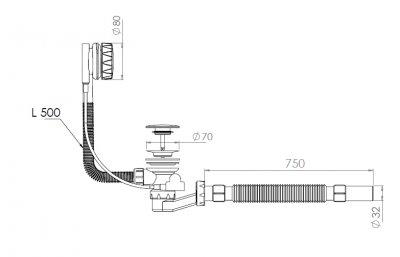 Сифон для ванны NOVA 1541N