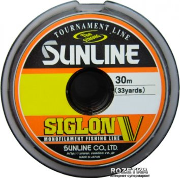 Леска Sunline Siglon V 30 м #0.6/0.128 мм 1.5 кг (16580488)