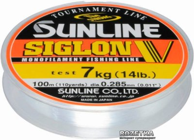 Леска Sunline Siglon V 100 м #3/0.285 мм 7 кг (16580404)