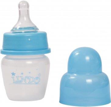 Бутылочка для кормления Lindo LI100 с силиконовой соской 40 мл Голубая (8850215001000)