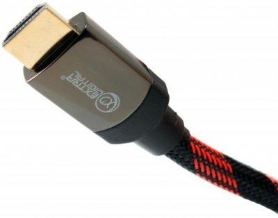 Кабель Extradigital HDMI to HDMI, 5 м, v 2.0, 28 AWG, Gold, Nylon, 2x Ferrites (KBH1635)