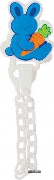 Ланцюжок для пустушки пластиковий Lindo Pk 015 на кліпсі Блакитна (8850215000157)