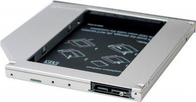 """Адаптер підключення Grand-X HDD 2.5"""" в відсік приводу ноутбука SATA/mSATA (HDC-24)"""