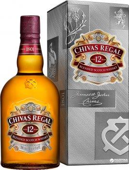 Виски Chivas Regal 1 л 12 лет выдержки 40% в подарочной упаковке (080432400432)
