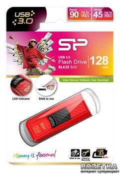 Флеш пам'ять USB Silicon Power Blaze B50 128GB Red (SP128GBUF3B50V1R)