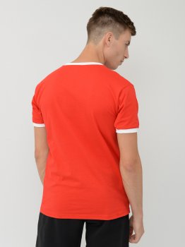 Футболка Fruit of the loom Ringer 0611680RW Червона з білим