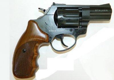 """Револьвер під патрон Флобера Stalker 2.5 """"Wood"""" (силуміновий барабан)"""