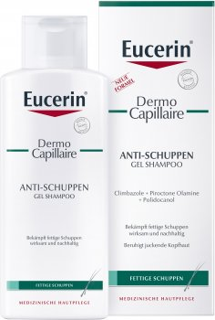 Гель-шампунь против перхоти Eucerin DermoCapillaire для жирной кожи головы 250 мл (4005800036637)
