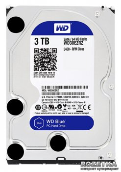 Жорсткий диск Western Digital Blue 3TB 5400rpm 64MB WD30EZRZ 3.5 SATAIII