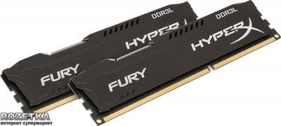 Оперативная память HyperX DDR3L-1600 8192MB PC3-12800 (Kit of 2x4096) FURY Black (HX316LC10FBK2/8)