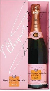Шампанське Veuve Clicquot Ponsandin Rose рожеве брют 0.75 л 12% в подарунковій упаковці (3049614083983)