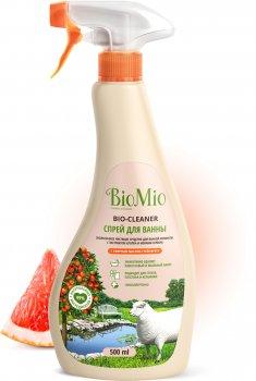 Антибактеріальний чистячий еко засіб для ванної кімнати BioMio Bio-Bathroom Cleanerз ефірною олією Грейпфрута 500 мл (4603014008022)