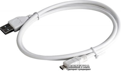 Кабель Cablexpert USB 2.0 - MicroUSB 5pin 1 м (CCP-mUSB2-AMBM-W-1M)
