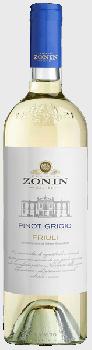 Вино Zonin Pinot Grigio белое сухое 0.75 л 13% (8002235212557)