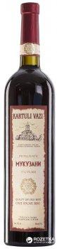 Вино Kartuli Vazi Мукузані червоне сухе 0.75 л 12% (4860001680313)