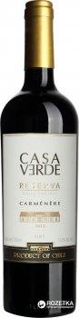 Вино Casa Verde Rezerva Carmenere красное сухое 0.75 л 13% (7808765712946)