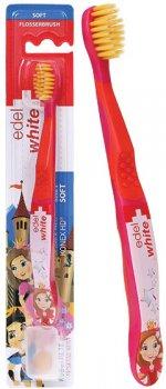 Детская зубная щётка Edel White Мягкая со щетиной Konex Розовая (100-110-4)
