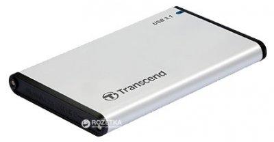 """Внешний карман Transcend StoreJet 25S3 для 2.5"""" HDD/SSD USB 3.1 Aluminum (TS0GSJ25S3)"""