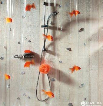 Шторка для ванної Spirella Goldfish 180x200 PVC Помаранчева (10.00097)