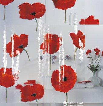 Шторка для ванної Spirella Poppy 180x200 PVC Червона (10.42344)